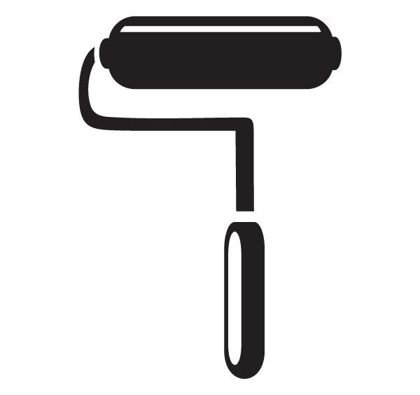 Paintbrush clipart paint roller. Free download best