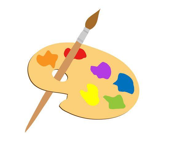 Paint brush free stock. Artist clipart paintbrush