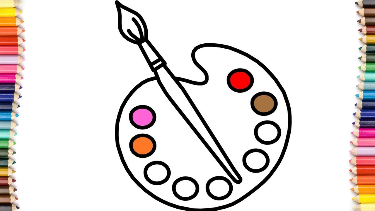 Paint drawing at getdrawings. Brush clipart pallet