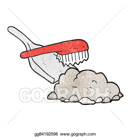 Vector texture cartoon dust. Brush clipart pan