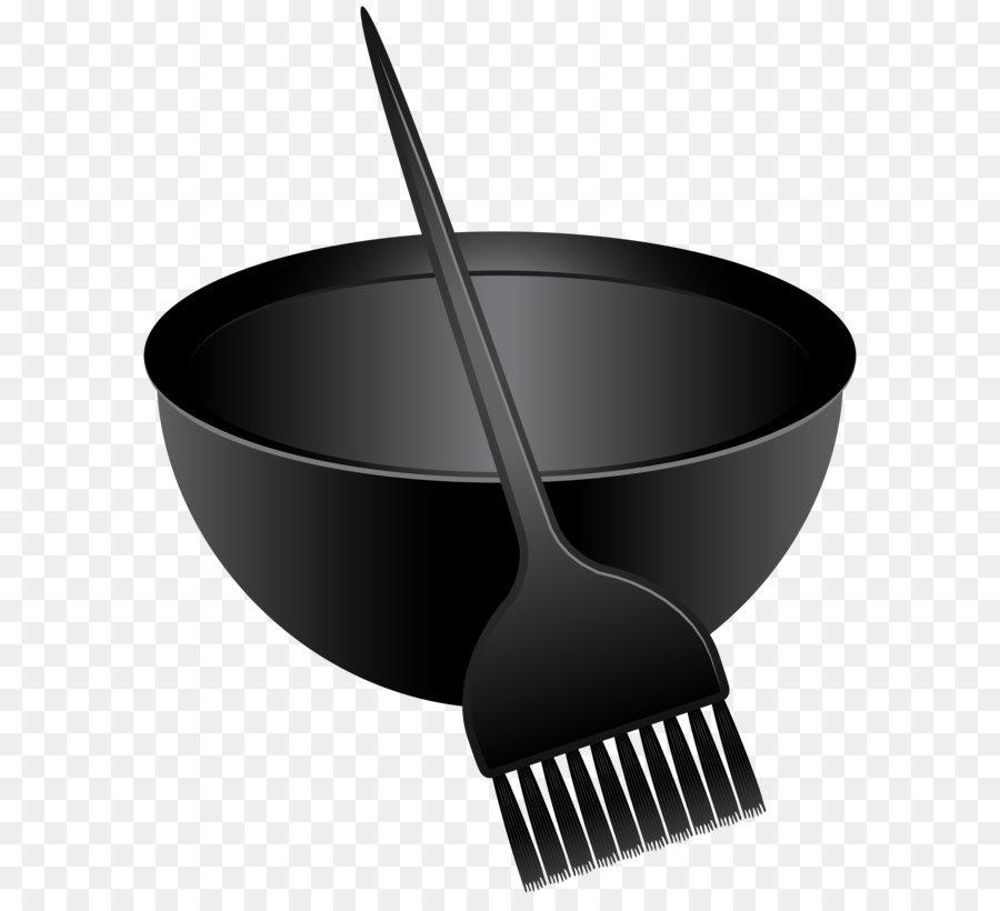 Hair coloring dye clip. Brush clipart pan
