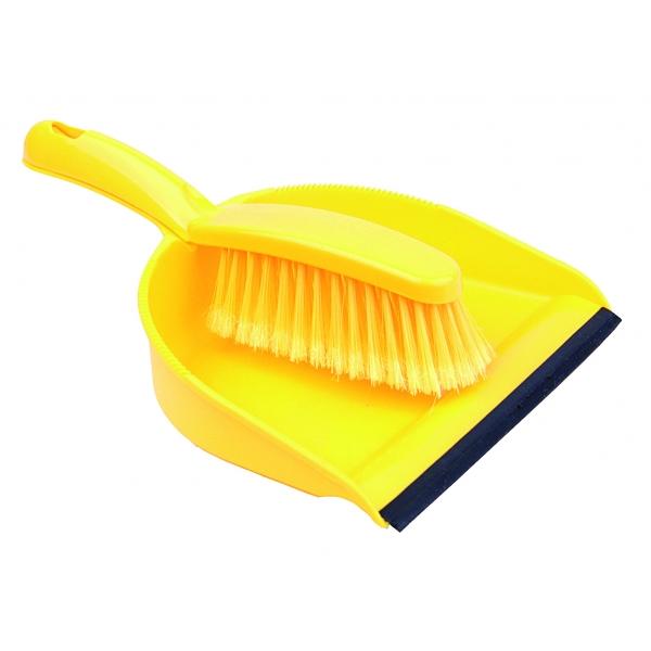 Brush clipart pan. Dustpan soft yellow upholstered