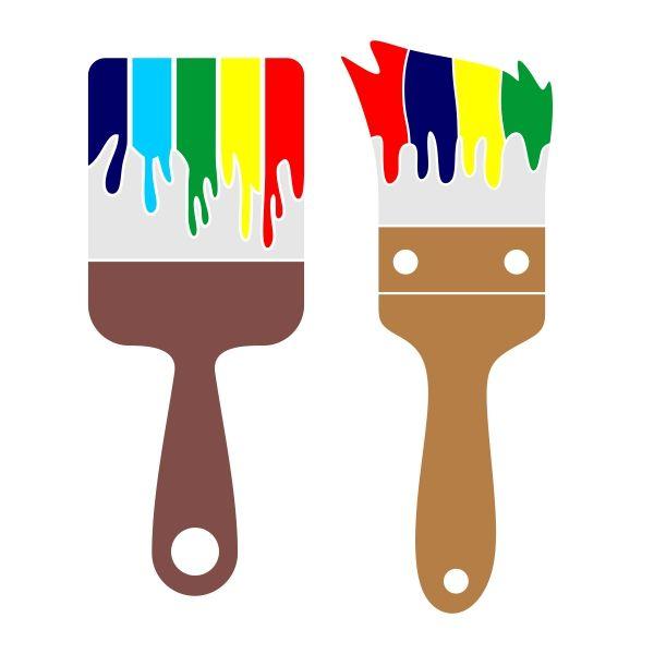 Paint cuttable design cut. Brush clipart pdf