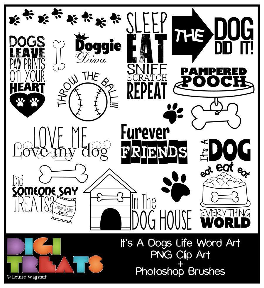 Dogs word art png. Brush clipart pet brush