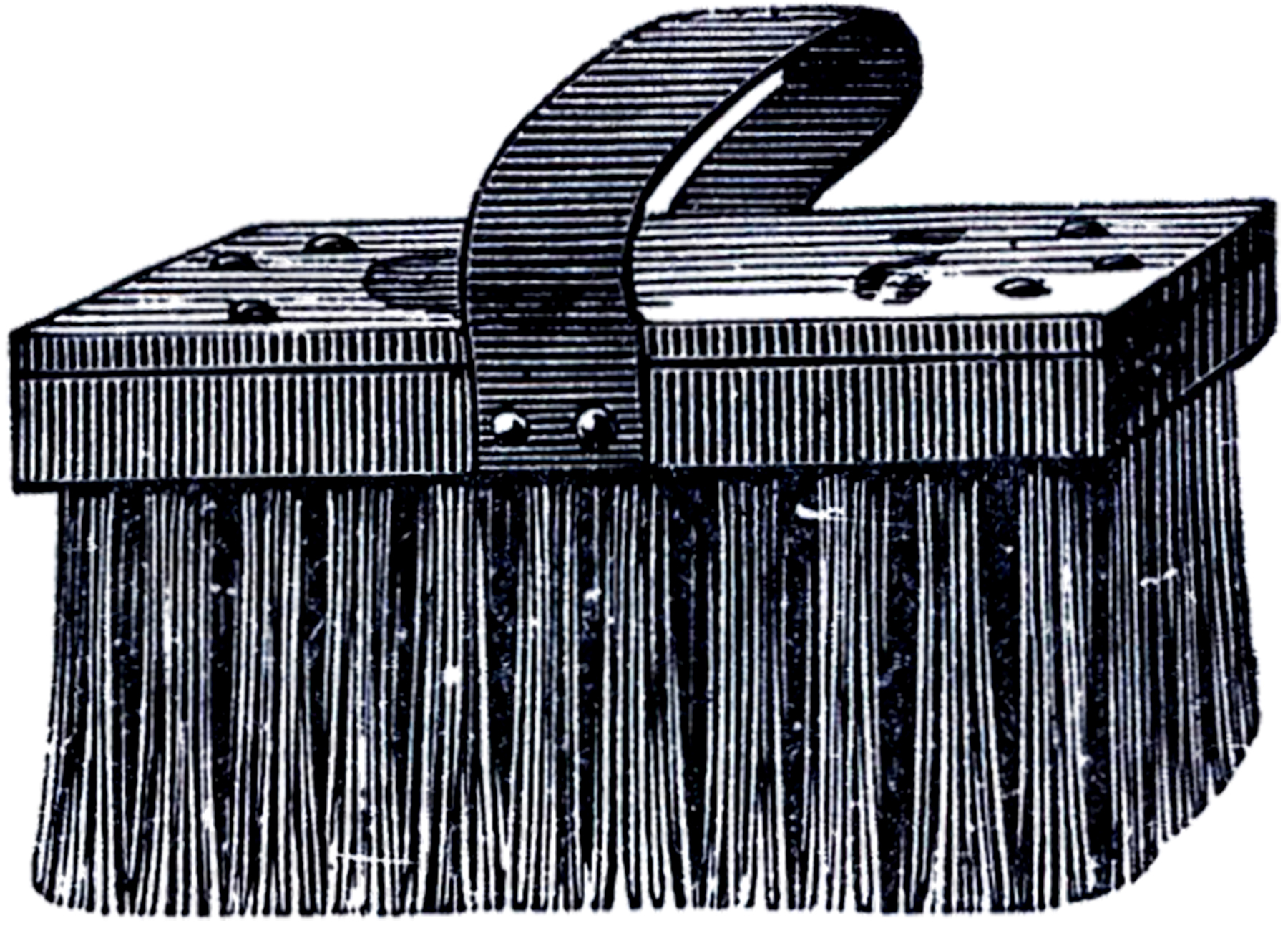 Brush clipart scrub brush. Vintage clip art the