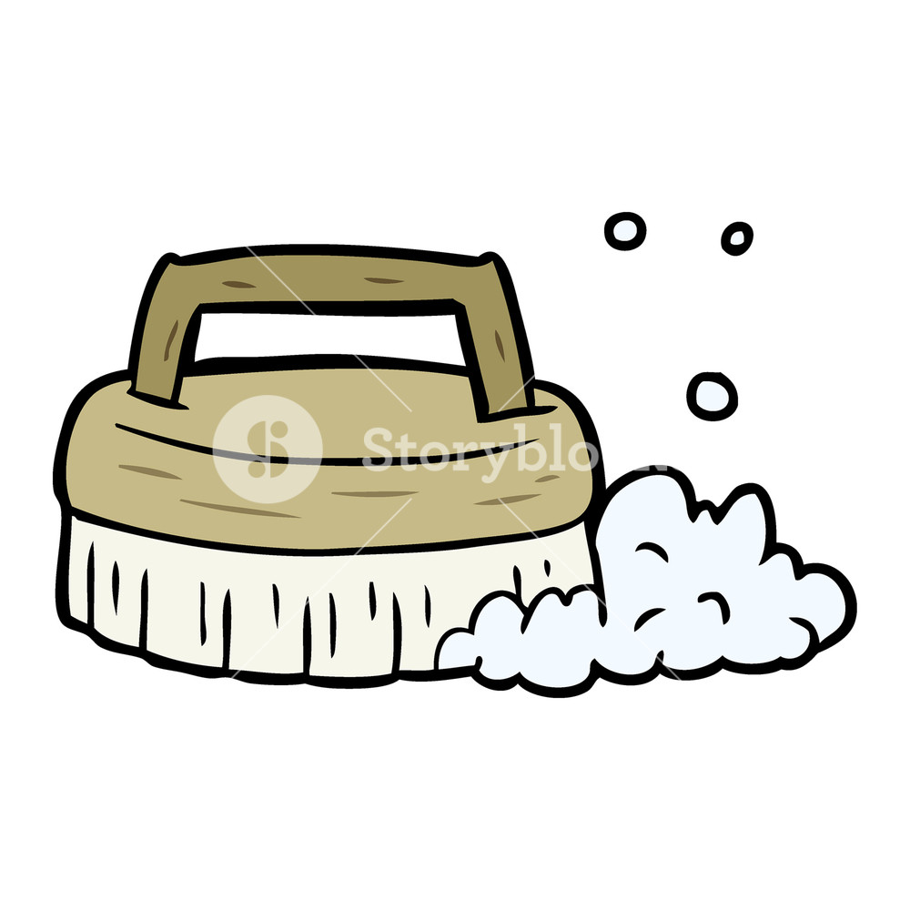 Cartoon scrubbing royalty free. Brush clipart scrub brush
