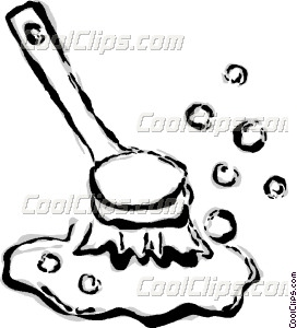 Vector clip art. Brush clipart scrub brush