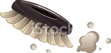 Cleaning dust stock vectors. Brush clipart scrub brush