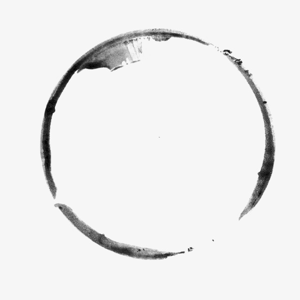 Brush clipart simple. Ink circle png image