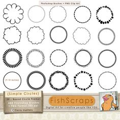 Brush clipart simple. Quirky doodle frame oval
