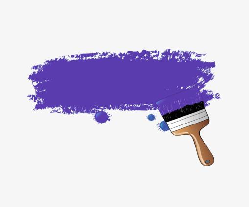 Purple paint material pigment. Brush clipart simple