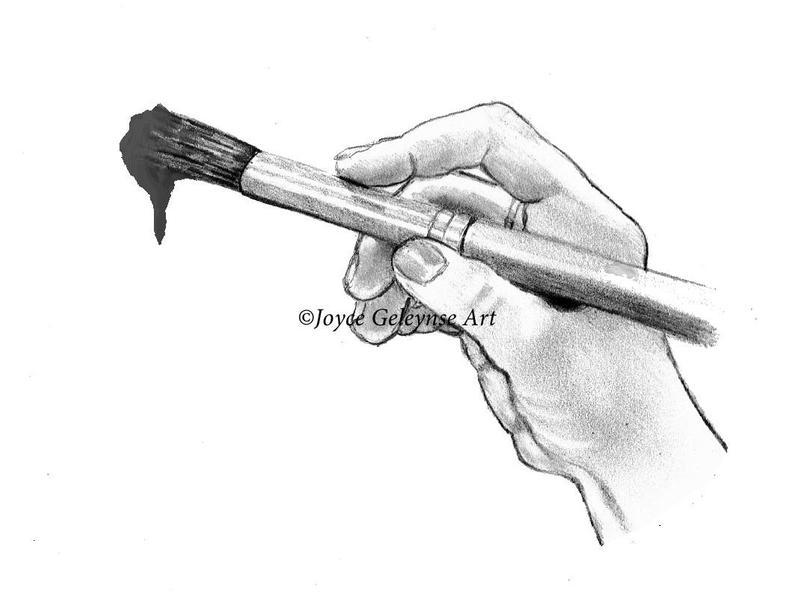 Pencil hand drawn clip. Brush clipart sketch