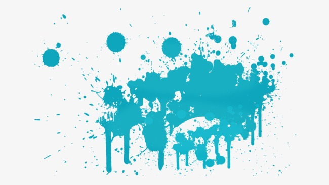 Brush clipart splash. Blue pattern png image