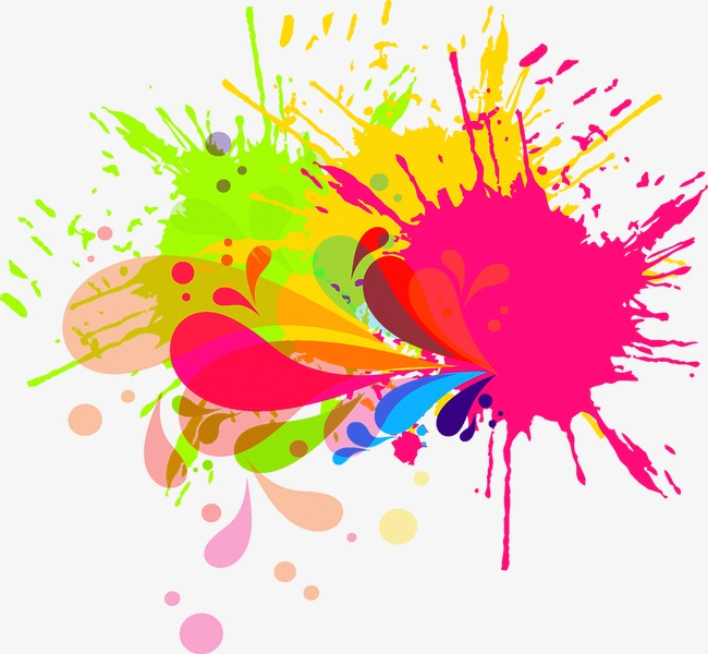 Brush clipart splash. Paint bright ink png