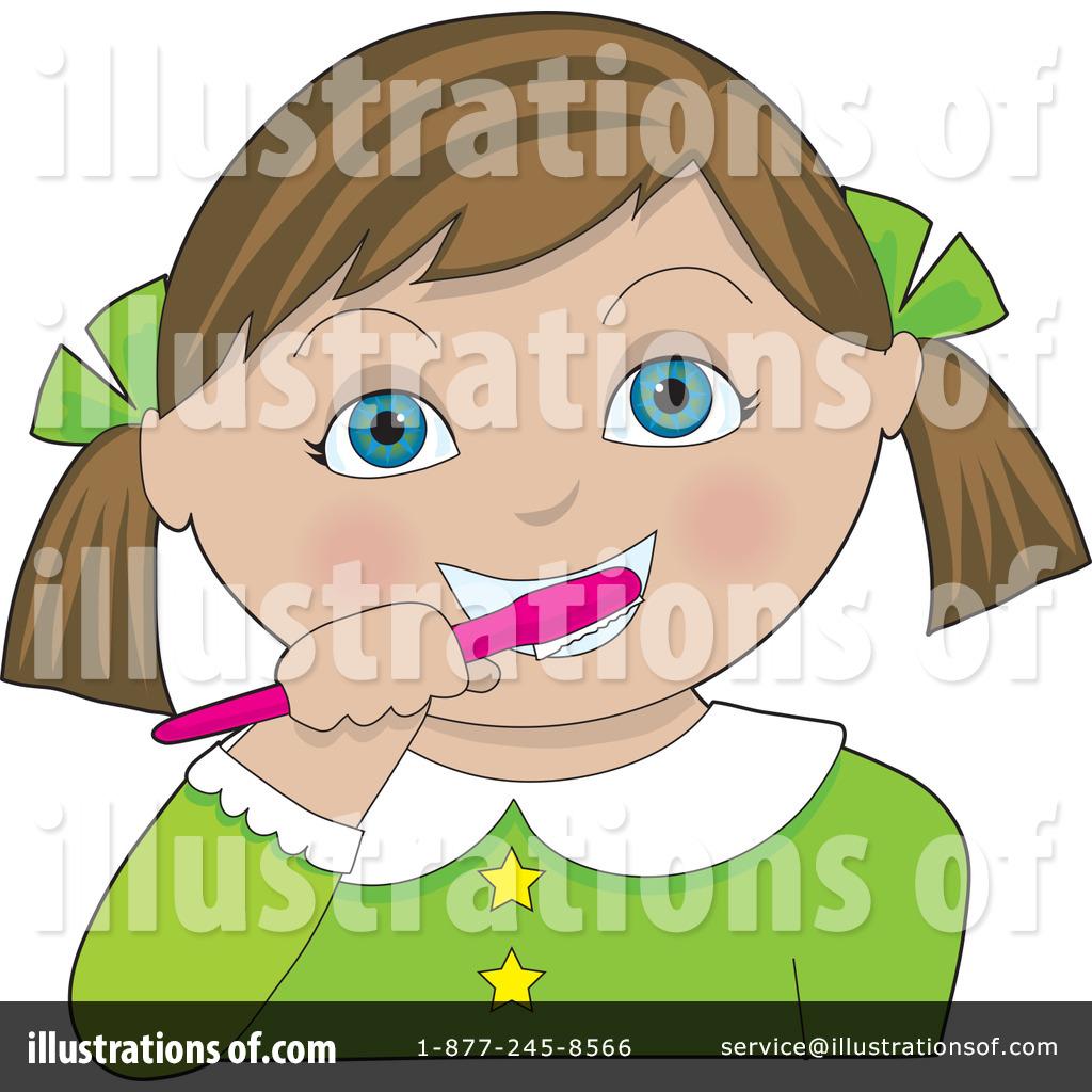 Brush clipart teethbrushing. Brushing teeth illustration by