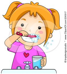 Brush clipart teethbrushing. Clip art of tooth