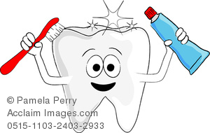 Clip art image of. Brush clipart tooth paste