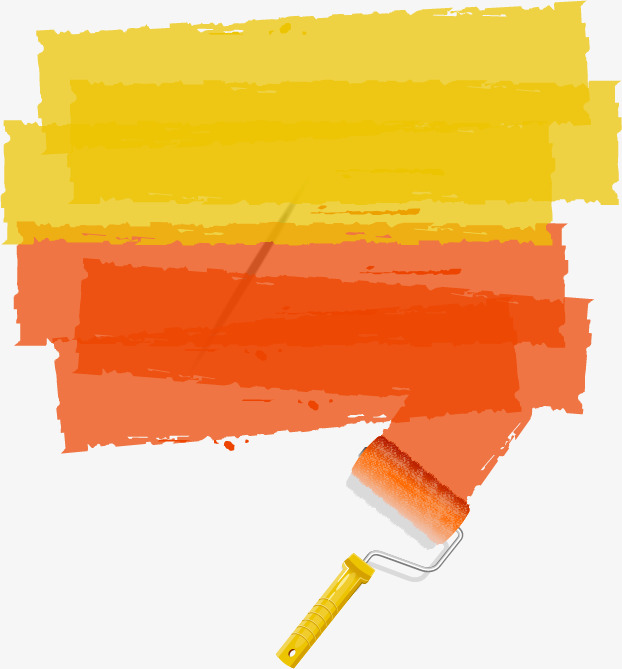 Brush clipart wall. Color paint the png
