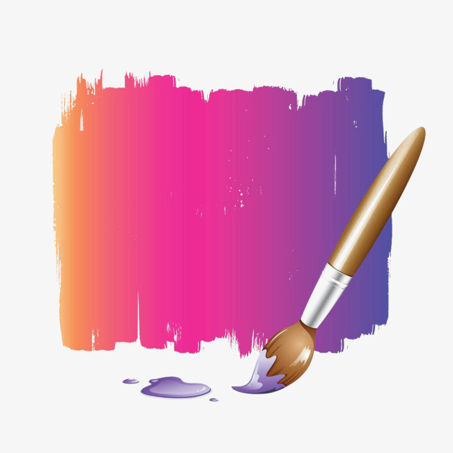 Color paint pigment png. Brush clipart wall
