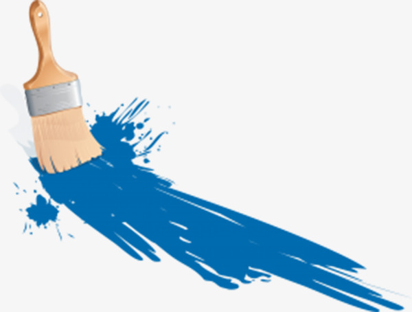Brush clipart wall. Blue paint wood png