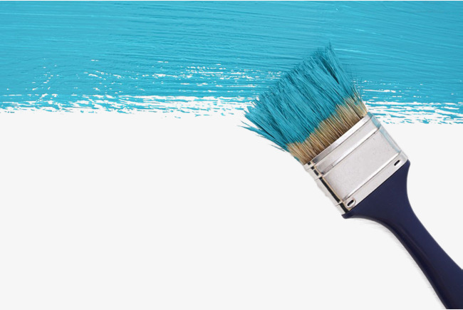 Blue paint the png. Brush clipart wall