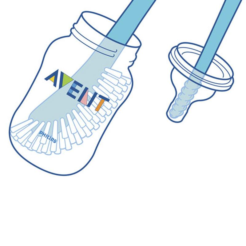 Amazon com philips avent. Brush clipart washing brush