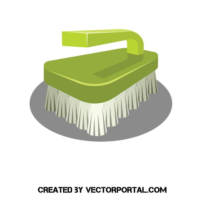 Brush clipart washing brush. Cleaning vector clip art