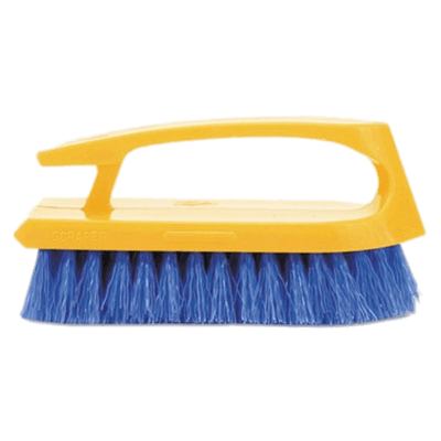 Cleaning with yellow handle. Brush clipart washing brush
