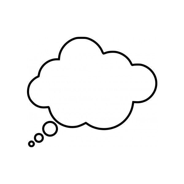 Thoughts clipart bubble text. Cartoon thought vector clip