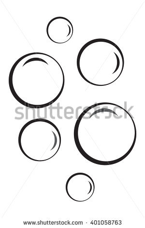 Bubbles station. Bubble clipart black and white