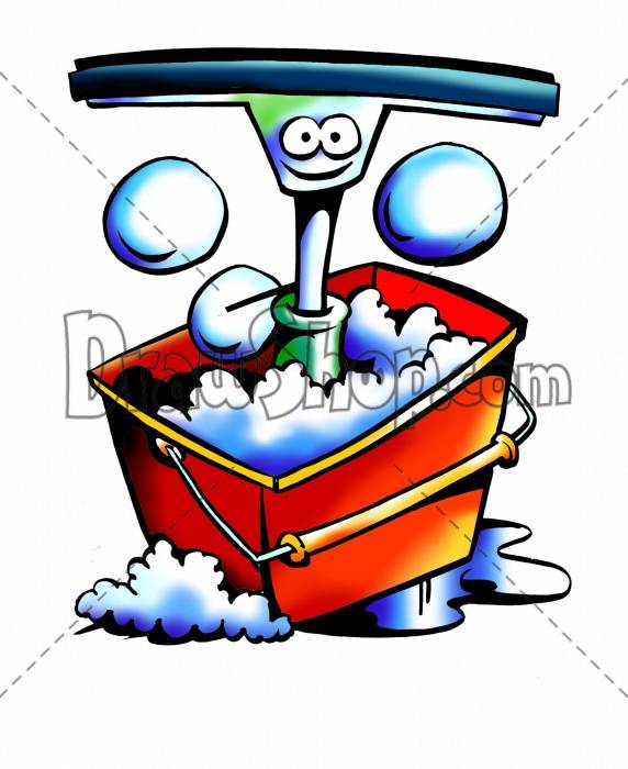 Bucket clipart bubble. Drawshop royalty free cartoon