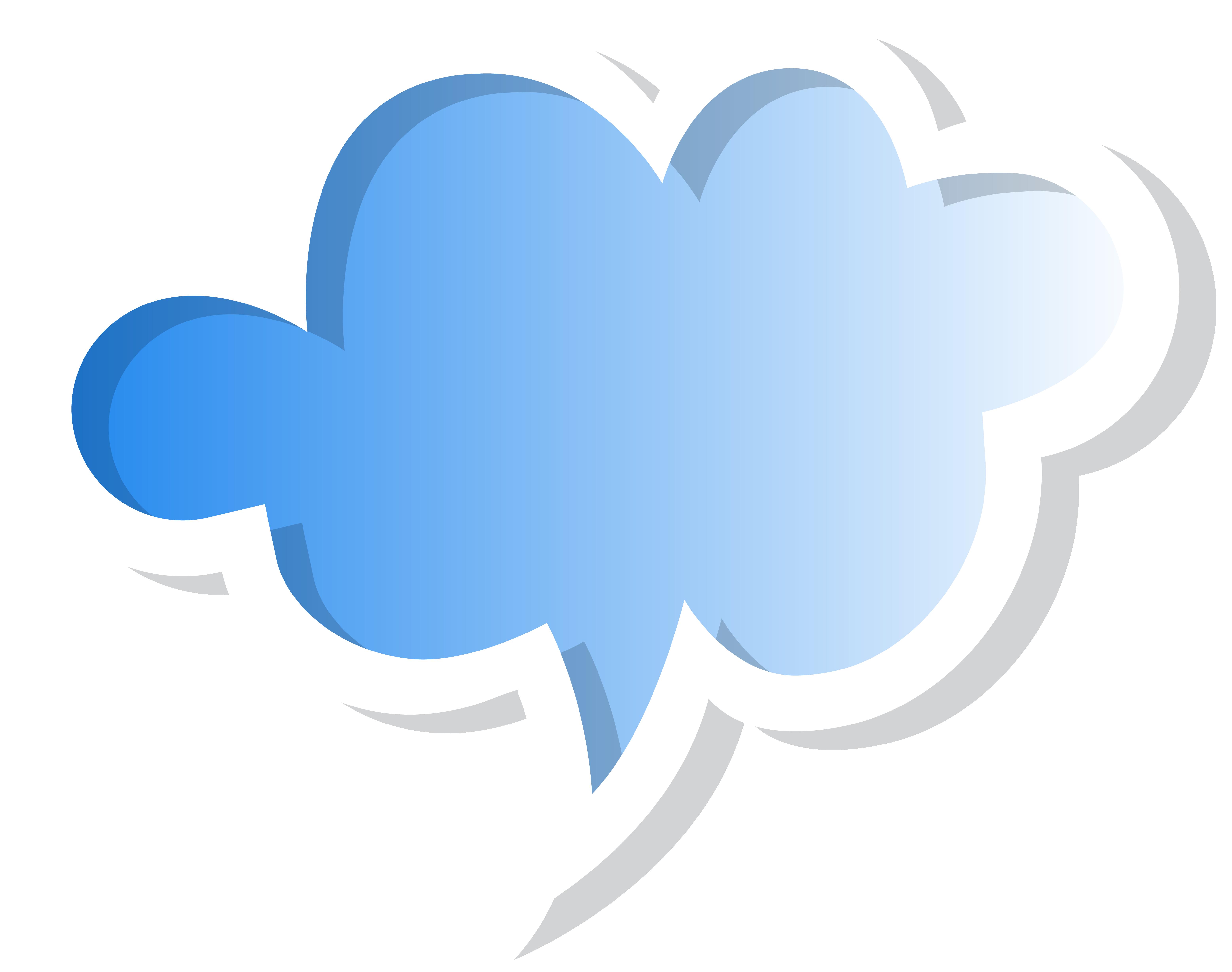 Speech bubble blue png. Hearts clipart cloud