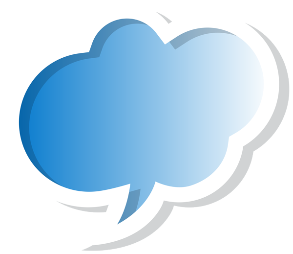 Bubble speech cloud blue. Clouds clipart logo