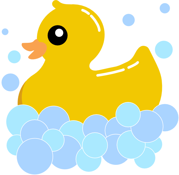 Rub duck bubbles clip. Duckling clipart yellow duckling