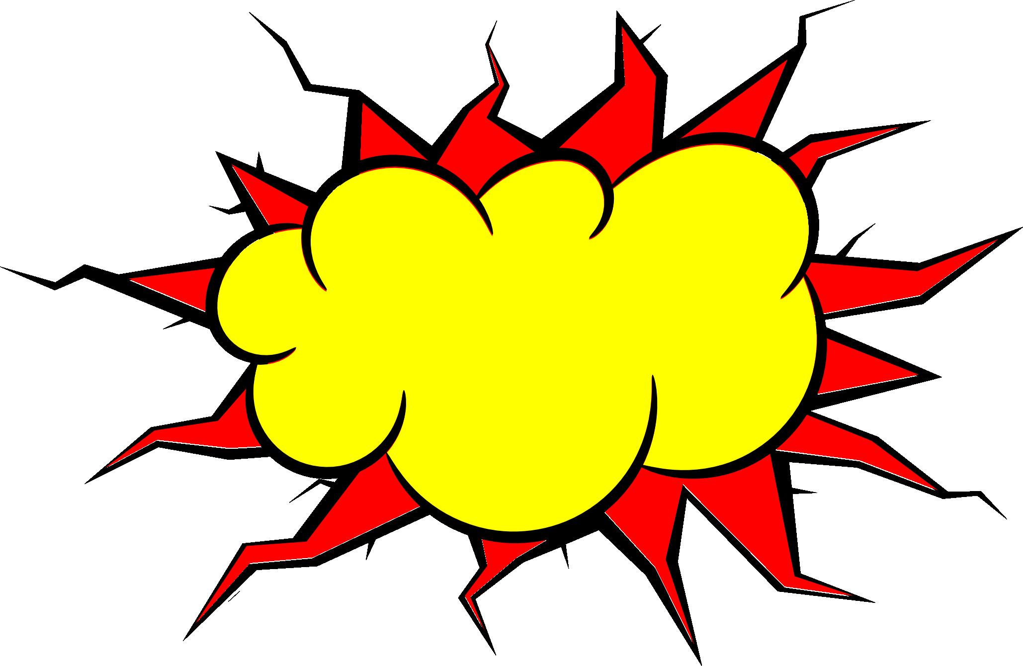Explosion clipart bubble.  comic png transparent