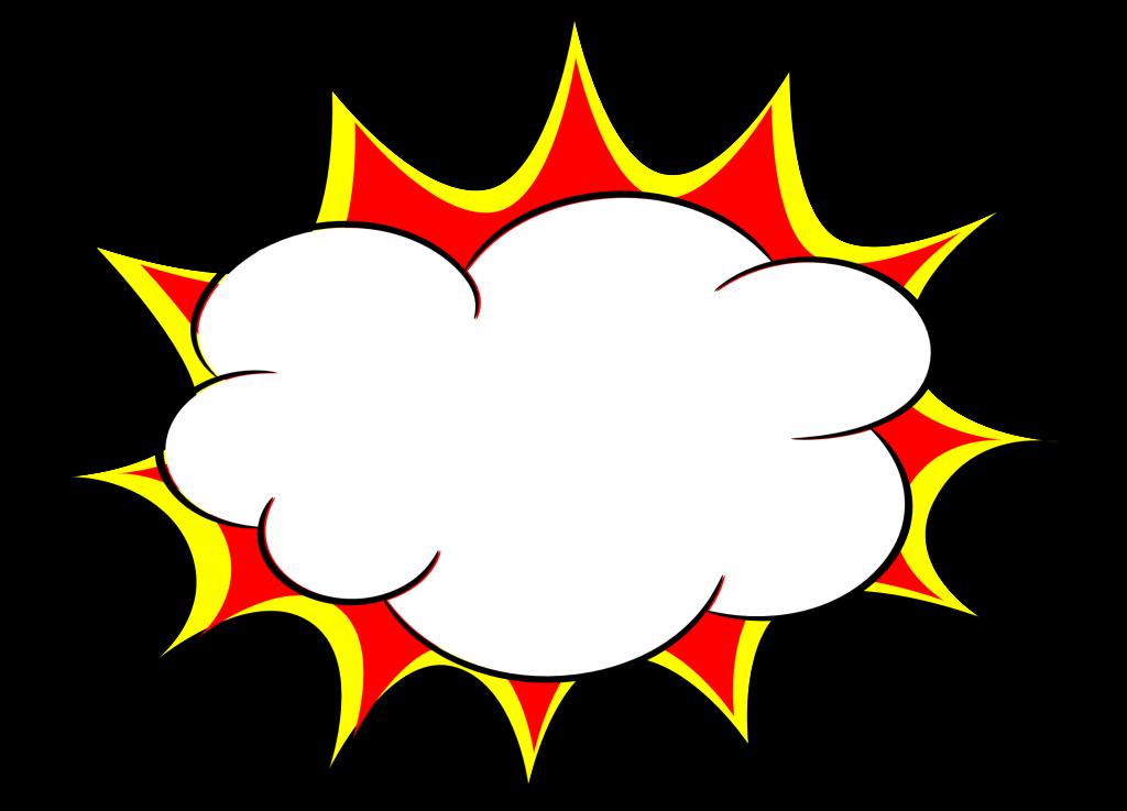 Clouds clipart explosion.  comic bubble png