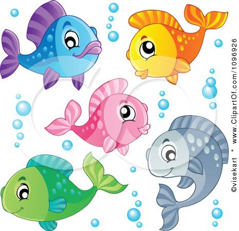Happy colorful and royalty. Bubbles clipart fish