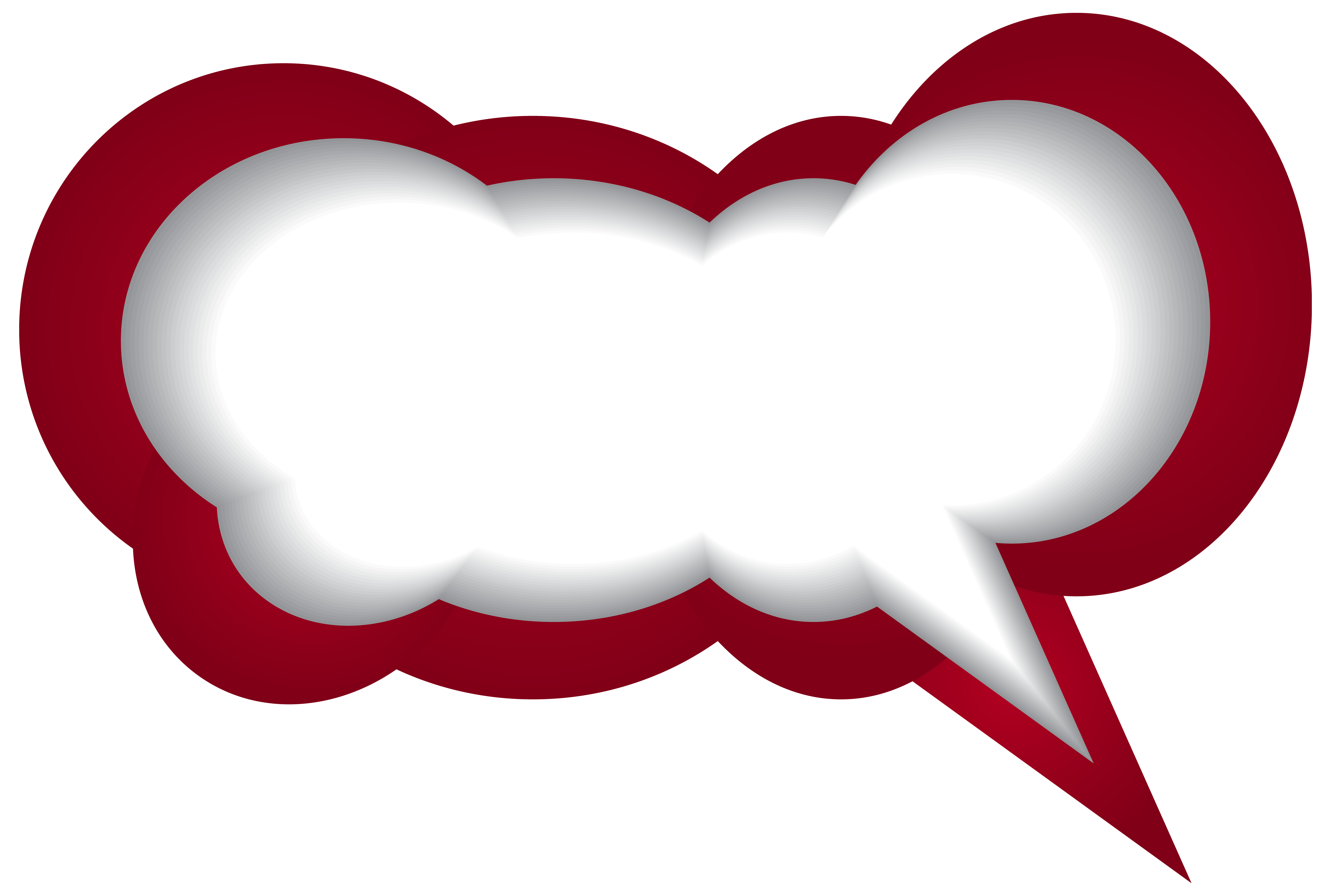 Speech bubble red white. Clipart balloon conversation