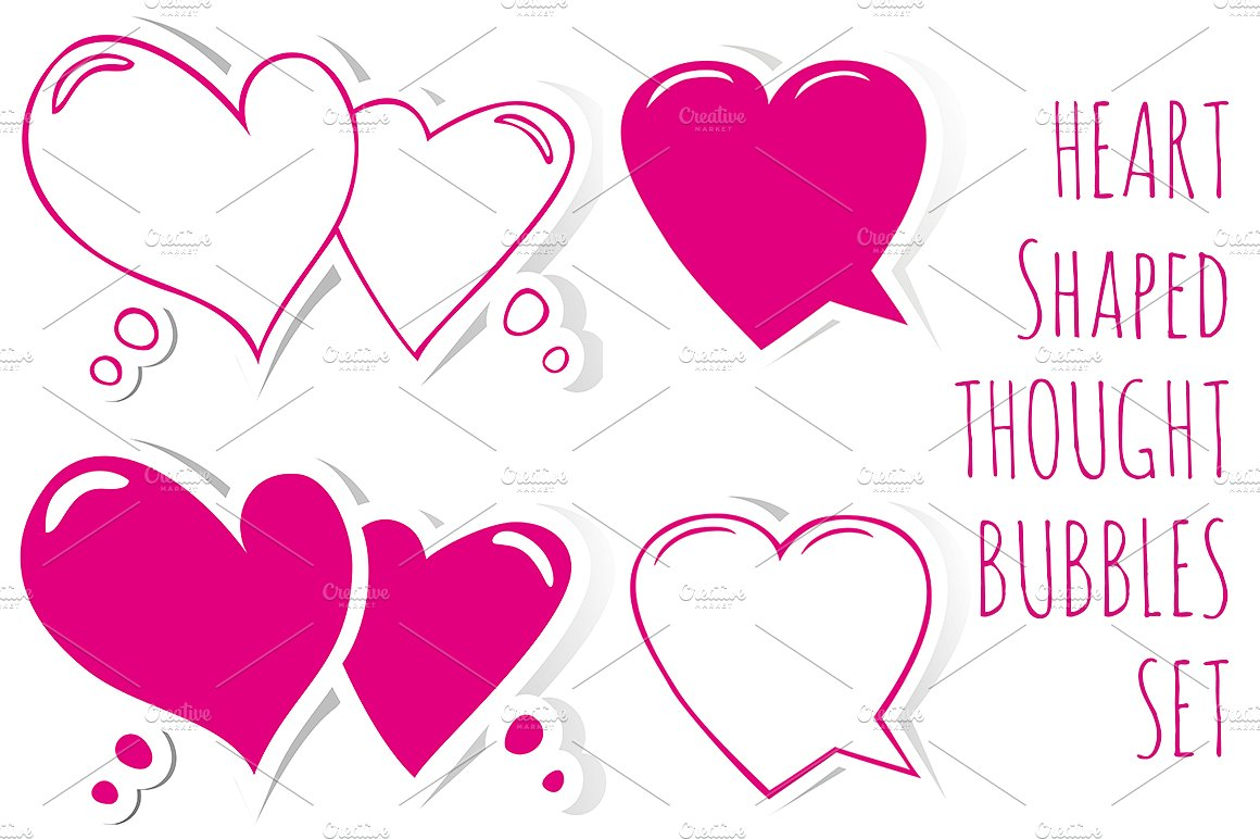Bubble clipart heart. Shaped speech bubbles web