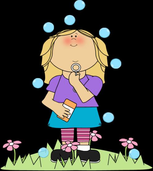 Clip art images girl. Bubble clipart illustration