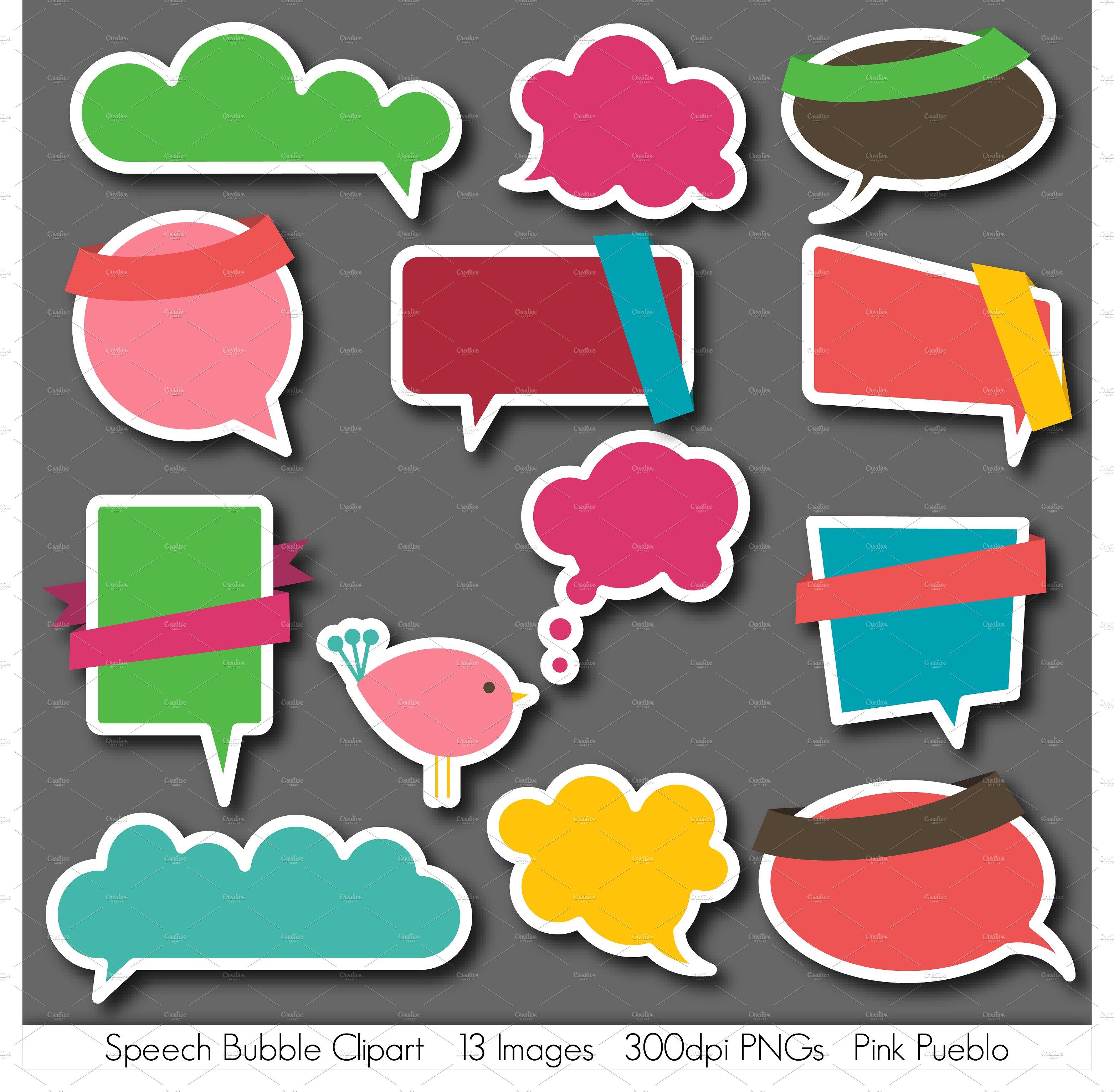 Bubble clipart illustration. Speech bubbles vectors and