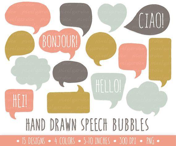 Bubble clipart illustration. Speech bubbles clip art
