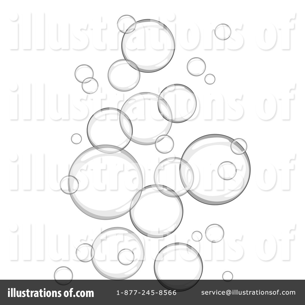 Bubbles by c charley. Bubble clipart illustration