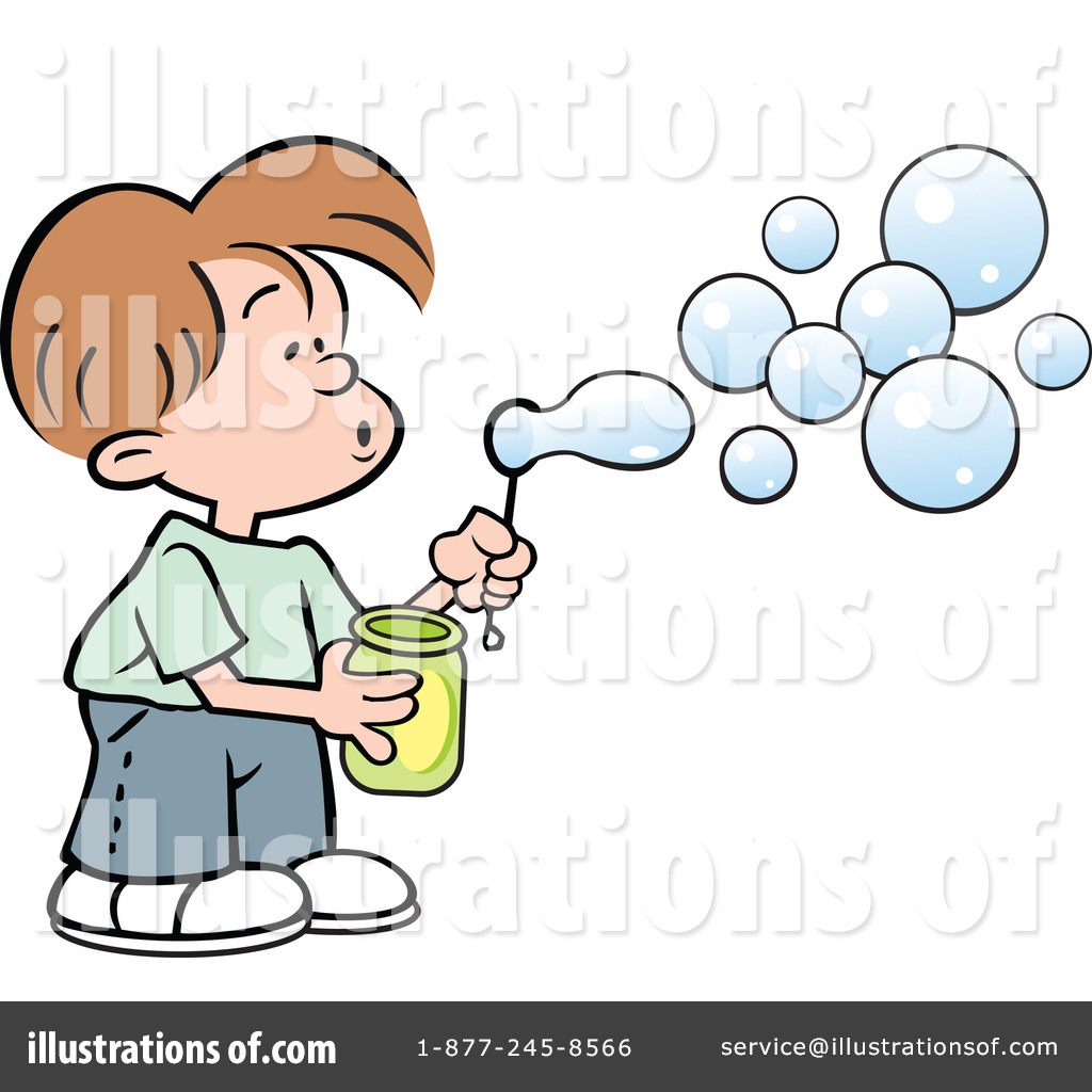 Bubble clipart illustration. Blowing bubbles by johnny