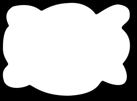 Cloud clipart speech bubble. Blank graphic design free