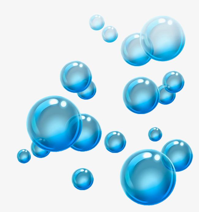 Blue floating bubbles blister. Bubble clipart water bubble