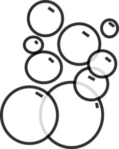 bubbles clipart black and white
