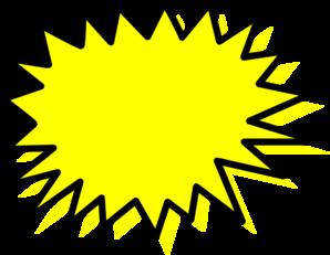 Burst clipart comic. Explosion blank pow clip