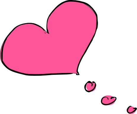 Bubble clipart heart. Thought group