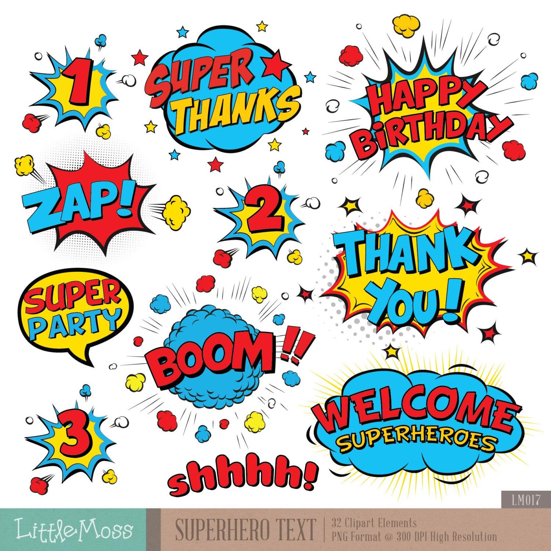 Boom clipart pop art. Superhero text digital comic